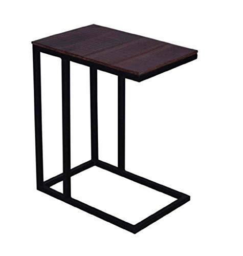 ANTARRIS Edelholz Industrial Beistelltisch Esstisch für Single Haushalt Couchtisch Sofa-Tisch Betttisch Nachttisch zum Unterstellen super platzsparend Maße: 40x25xH60 komplett Montiert (Black_Beauty)