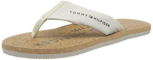 Tommy Hilfiger Felipe 7D, Chanclas Hombre, Ivory, 44 EU