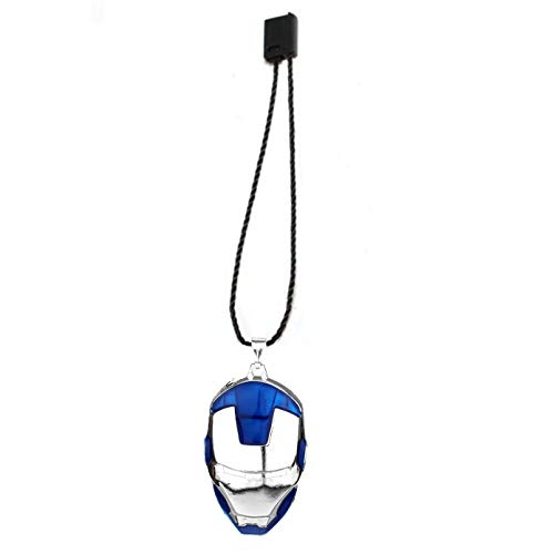LADY HAWK Iron Man Blue Helmet Avengers Luggage Tag with Super Strong Polyester Chain Rope & Secure Lock for Baggage, Backpack and Car Interior Deco - 1 Piece
