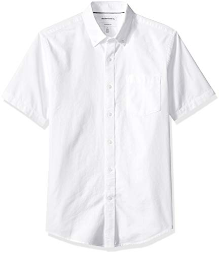 Amazon Essentials – Camisa Oxford de manga corta con bolsi