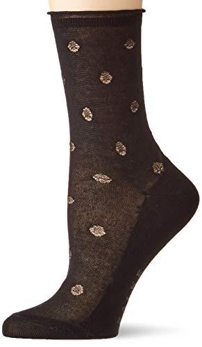 FALKE Damen Socken Prestige Dot, 80% Baumwolle, 1 Paar, Schwarz (Black 3000), Größe: 37-38
