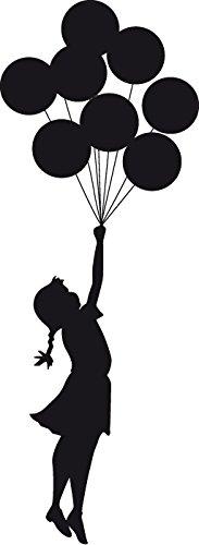 budhasuite® Vinilo Decorativo Banksy Escapism.M.(130x48cm Aprox.) Color Negro.