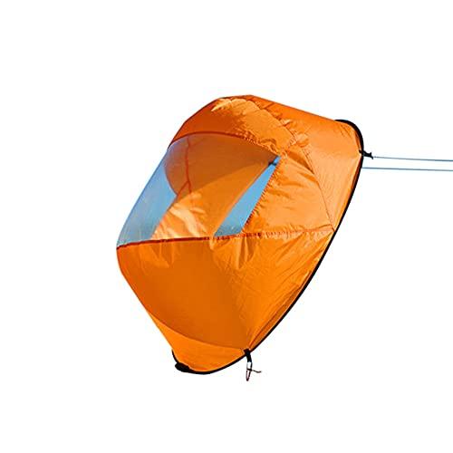 DATIAN Vela de viento descendente, kayak Windsurf canoa downwind sail plegable paleta instantánea kit de remo barco vela con ventana transparente (42 pulgadas)