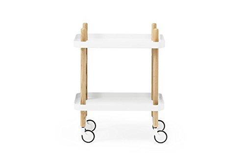 Normann Copenhagen-Bloque Table-Carro Auxiliar-Color Blanco-Simon legald-Diseño-Mesa Auxiliar-Sofá Mesa-Estantería