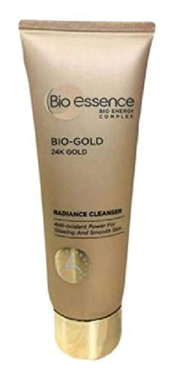 不名誉警報割り当てるBio-Essence バイオゴールド輝きクレンザー100ミリリットル豊富な、細かな泡が肌に最も優しいクレンジングを与えます