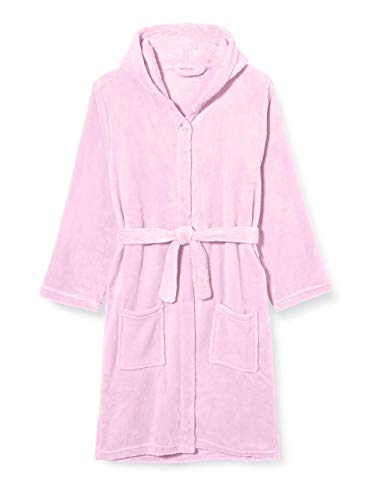 Playshoes Unisex Kinder Fleece-bademantel Uni Bademantel, Rosa (Rosa 14), 122-128 EU