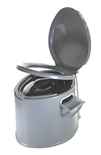 Sesua Eimertoilette,Camping-Toilette,Nottoilette, chemietoilette toiletteneimer Sanitär Farbe GRAU
