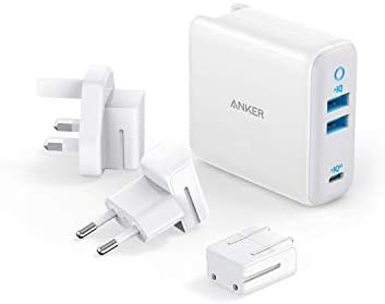 USB C Charger Anker 65W PIQ 3 0 GaN Type C Charger with a 45W PD Port PowerPort III 3 Port 65W product image