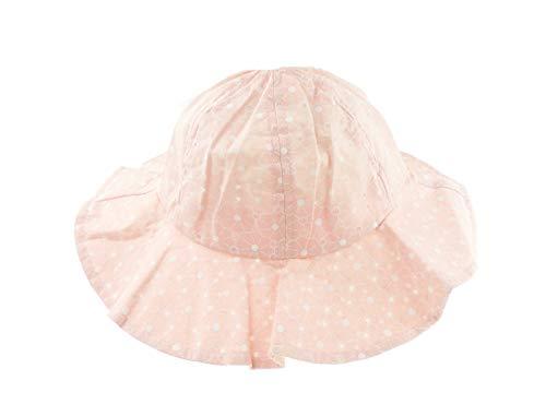 Chapeau de soleil en coton uni ou à pois pour bébé de 6 à 24 mois rose Rose à pois S