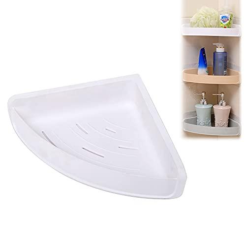 Estantería de ducha, estante esquinero para ducha, autoadhesivo, estantería esquinera, estante de ducha, cesta de baño, resistente al agua, adhesivo para cuarto de baño y cocina, blanco