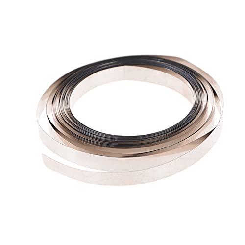 GXSLT Fácil de Desmontar la Nueva Cinta de Tira de níquel de 500 cm de 8 mm x 0,1 mm para para 18650 AAA AA AA Soldadura de la batería Compatible con la máquina de soldadora del Punto Reutilizable
