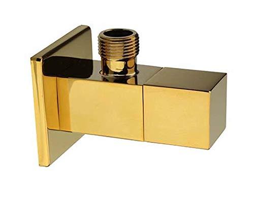 """ATCO® Gold vergoldet Eckregulierventil Eckventil eckig Ventil Messing 1/2\""""x3/8\"""""""