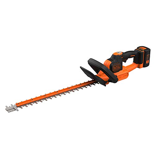 Black+Decker BCHTS3625L1 Taille-Haies sans Fil Lithium 36 V POWERCOMMAND - 2.5 Ah - 55 cm - Embout Lame de Scie - Orange/Noir