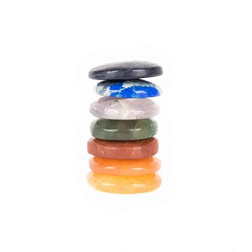 Chakra con conjunto de ladrillos 7 piedras preciosas chakra piedras con bolsa de tela CSR19