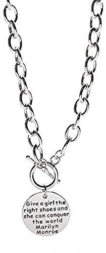 ZPPYMXGZ Co.,ltd Collar de Moda de Marca Redonda de Cuello Corto con Cadena de clavícula para Mujer