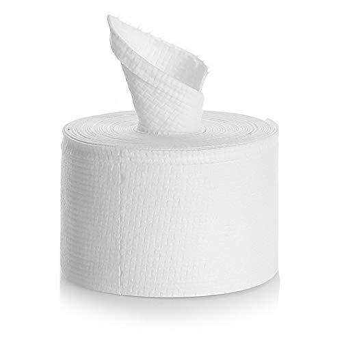 Fesjoy Toalla facial desechable de tejido de algodón Toalla suave Toallitas faciales desechables Almohadillas de algodón Almohadillas de eliminación de esmalte de uñas para uso seco o húmedo