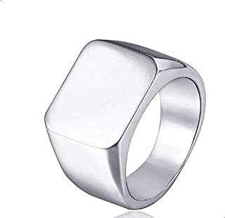 Men Silver Plated Ring Size 11