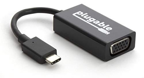 """Plugable USB-3.1-USB-C-nach-VGA-Adapter für MacBook Pro Ende 2016/2017, MacBook Retina 12\"""" 2016/2017, Surface Book 2, Thunderbolt 3 und weitere"""