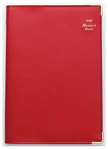 2020年 マンダラ手帳 B6サイズ(ワインレッド)