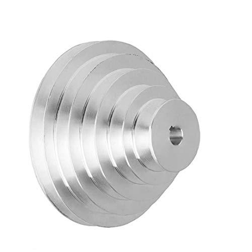 Pagoda Pulley 5 Schritt 150mm Aussendurchmesser A-Typ Aluminium Pagoda Riemenscheibe für V-förmige Zahnriemen Innendurchmesser 14mm Industrie DIY Arbeit Kit