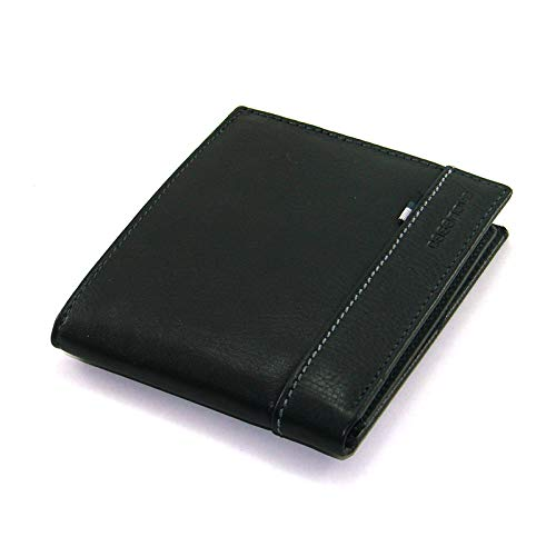Cartera para Hombre Americana   Piel de Ubrique   Billetero y Tarjetero   Hechas a Mano   Fabricadas en España   RFID   14294 Negro