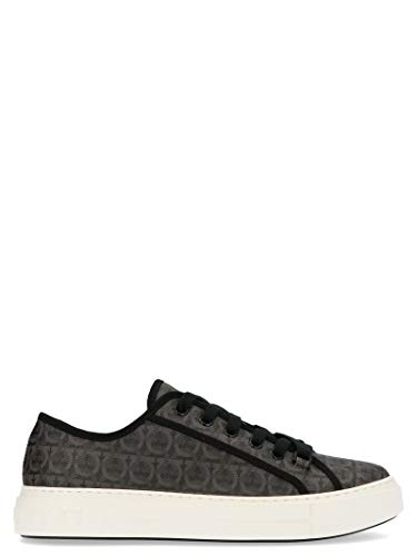 SALVATORE FERRAGAMO Luxury Fashion Herren 717990 Grau Polyurethan Sneakers   Jahreszeit Permanent