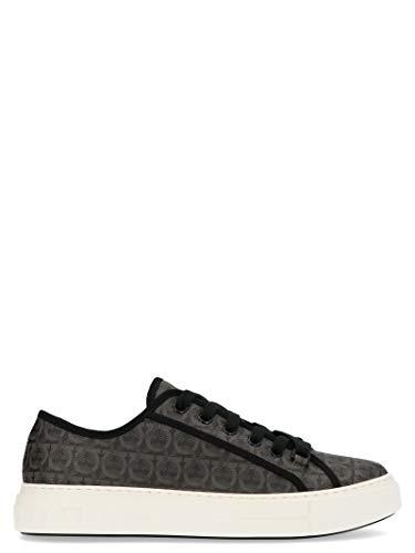 SALVATORE FERRAGAMO Luxury Fashion Herren 717990 Grau Polyurethan Sneakers | Jahreszeit Permanent