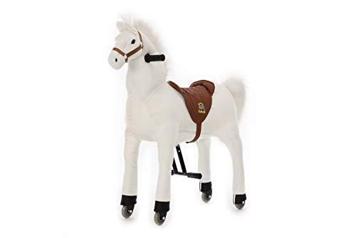 Animal riding Reitpferd Snowy (für Kinder ab 5 Jahren, Sattelhöhe 69 cm, mit Rollen) ARP011M,...