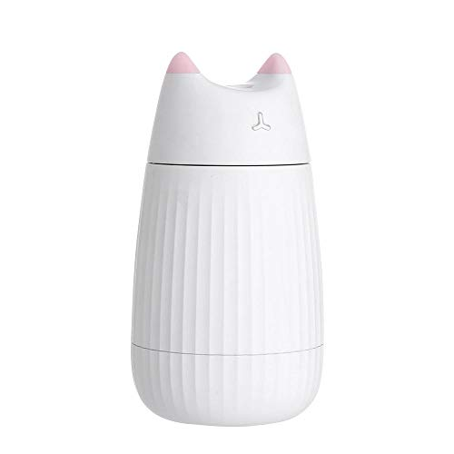 Bunte Nachtlicht Katze Luftbefeuchter-Usb Mini Tragbare Gesichtsspray Wasser Nachfüller Stumm, Geeignet Für Zu Hause Orte, Freizeit Orte-Engel Weiß