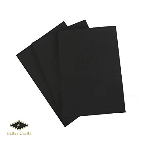 Eva Foam Sheets in Black, 9x12 Inches, 6mm- Extra Thick! Great Craft Foam Paper (10)