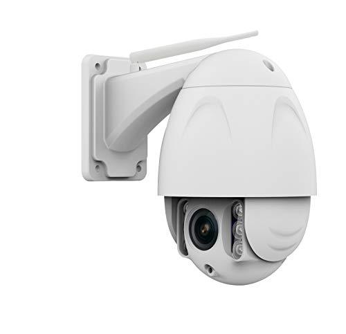 Safe2Home bewegbare PTZ Funk IP Überwachungskamera 1080P PTZ Cam Full HD Cam mit Nachtsicht – 4X Zoom – Kamera aussen Outdoor und innen