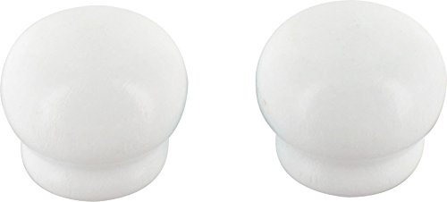 Embout pomme Ateliers 28 - Blanc laqué - Vendu par 2