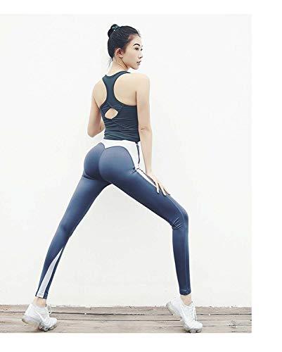 MAOYOU Frauen Power Flex Yoga Hosen, Tight Yoga Hosen, Tesla Yoga Hosen, Stretch Yoga Leggings Workout Pants, High Waist Soft Lightweight Tummy Control Workout Running Yoga Pants,grayishblue,L