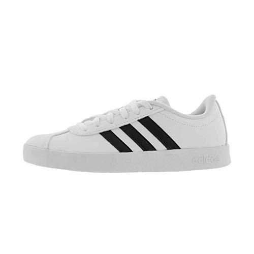 adidas Kid's Unisex Vl Court 2.0 White/Black/White 12.5K