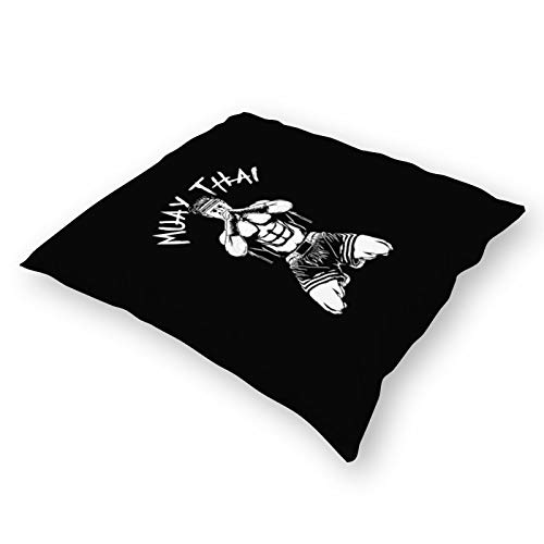 Throw Pillowcase Plush Pillowcase Super Soft Pillow Cover Case for Holding Pillow Muay Thai (18' x 18')