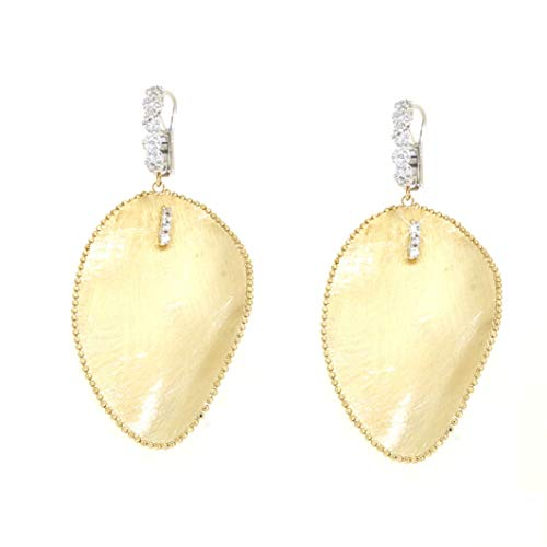 Gabriela Rigamonti Schmuck-Ohrringe aus 18kt Gelbgold mit Diamanten und Satinierung