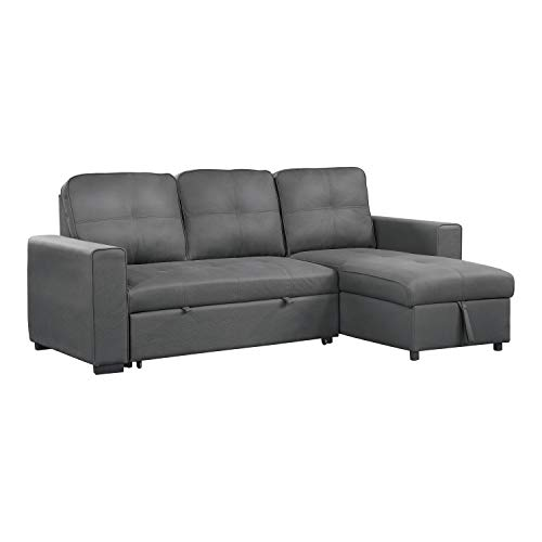 Lexicon Benton Reversible Sofa Sleeper with Storage, Grey