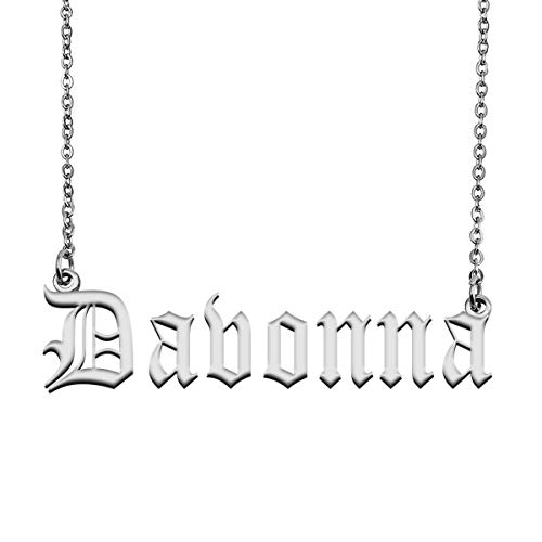 HUAN XUN Custom Initial Letter Pendant Name Necklace for Mom Davonna
