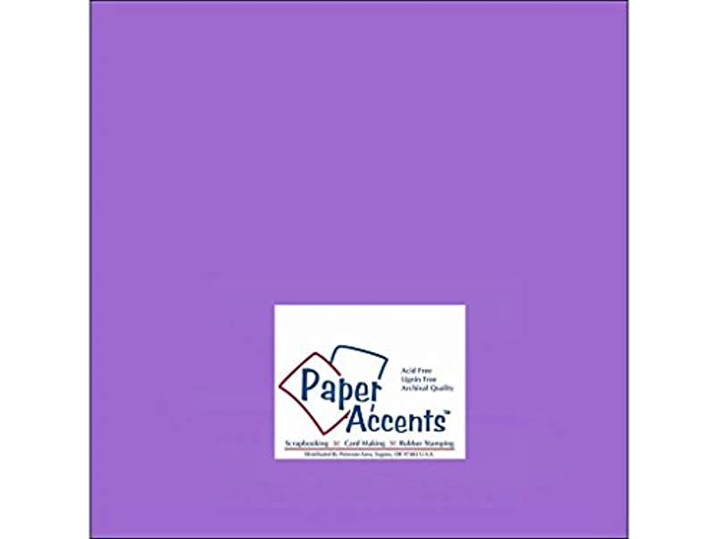 Accent Design Paper Accents Cdstk Smooth 12x12 65# Violet hf261697058