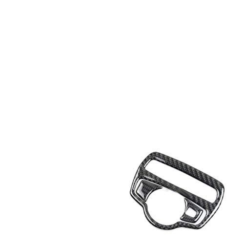 SDFGHT Embellecedores de Interruptor de Faro de Coche de Fibra de Carbono, para Mercedes Benz w205 x253 glc200 glc300 glc260 c180 c200 c300 glc250 2015-2019