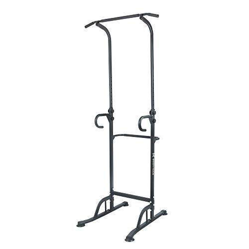 BODYTECH Power Tower Dip Station for Home Gym Workout, Fitness. Pull up Bar Stand for Muscle Training. 330LBS Black BTS91NH006A
