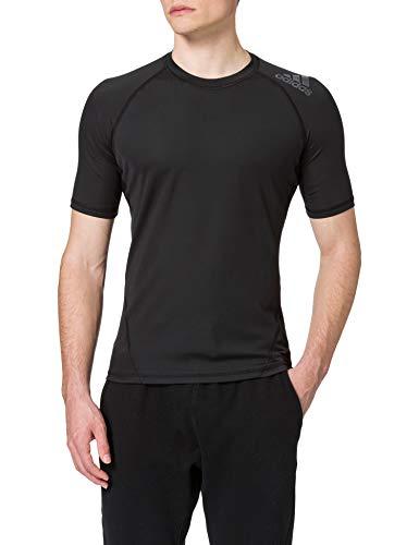 adidas Alphaskin Sport Shortsleeve Tee T-Shirts, Uomo, Black, S