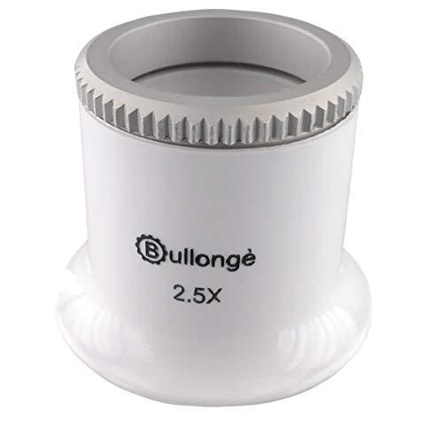 Uhrmacher-Lupe BULLONGÈ TB Pearl-White 2.5X für Arbeiten rund um die Uhr
