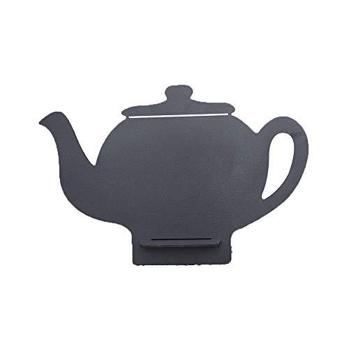 Yinglihua krijtbord in de vorm van een theepot, voor kantoor, verbinding, klein schildersezel, zwart, voor theken, keuken, bericht, restaurant, menu, tip, decoratie, bruiloft