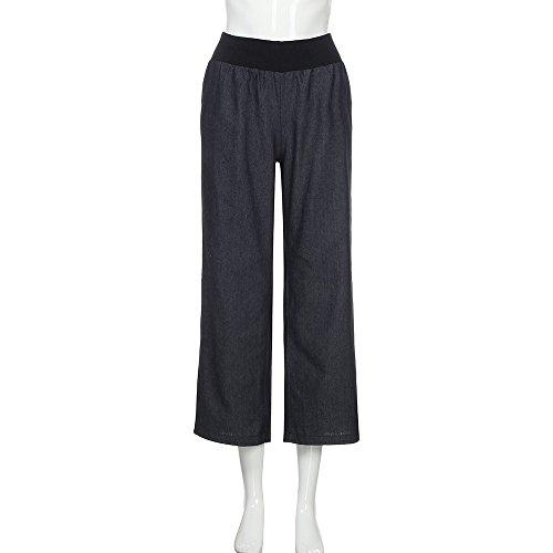 Paolian Pantalons Taille à Jambe Large de Serrage Pantalon DéContracté Jeans Couleur Unie( S/M/L/XL/XXL/XXXL/XXXXL )