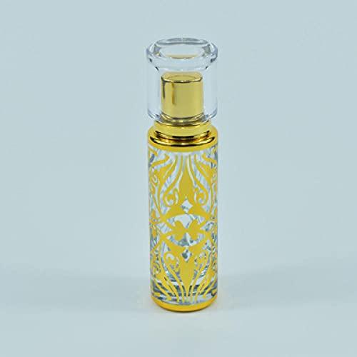 YUNHOME Botella De Perfume Vacía Perfume Recargable Frascos para Perfume Botella Vacía De Perfume De Pulverización De Cilindro De Estampado De 30 Ml-30 Ml_D