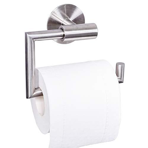 Dailyart Toilettenpapierhalter Toilettenpapierrollenhalter Klopapierhalter Klorollenhalter Klopapierrollenhalter Kleben Ohne Bohren Selbstklebende Wandmontage, Edelstahl, Gebürstet