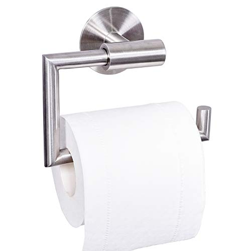 Dailyart Toilettenpapierhalter Toilettenpapierrollenhalter Klopapierhalter Klorollenhalter Klopapierrollenhalter Kleben Ohne Bohren Selbstklebende Wandmontage, Edelstahl, Gebürstet 1