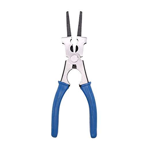 CLJ-LJ Alicates multifunción de 8 pulgadas compatible con la boquilla de soldadura MIG, boquilla de limpieza, punta de limpieza, extracción de alambre de corte de soldadura (color azul oscuro)