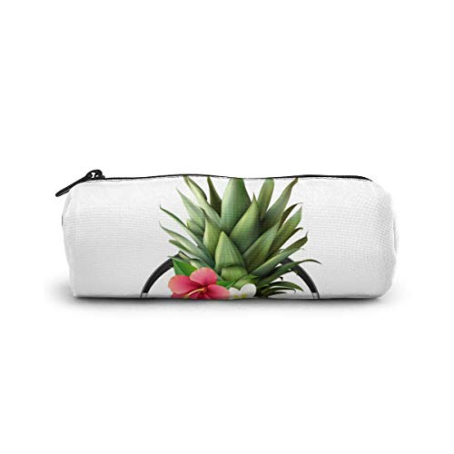 Cylinder Cosmetic Bag Realistic Pineapple Concept Pencil Case Small